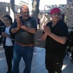 Abu Yasser and Hani having a good time
